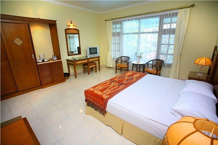 Salah satu jenis kamar di Pondok Serrata Hotel, Semarang.