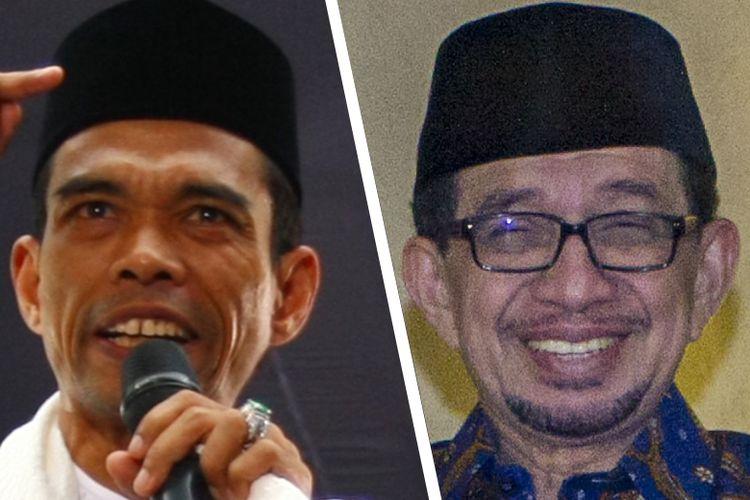 Dua sosok yang direkomendasikan Forum Ijtima Gerakan Nasional Pengawal Fatwa Ulama ( GNPF-Ulama) untuk mendampingi Prabowo Subianto sebagai calon wakil presiden, Abdul Somad (kiri) dan Salim Segaf (kanan).