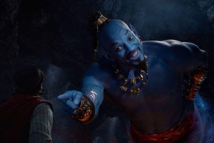 Karakter Genie yang diperankan Will Smith dalam film live-action Aladdin.