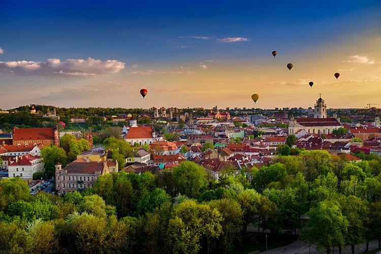 Kota Vilnius di Negara Lithuania.