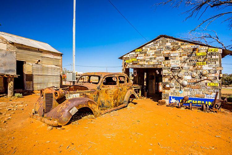 Kota Hantu Gwalia di Australia Barat.