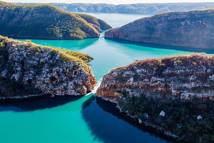 Air Terjun Horizontal di Australia.