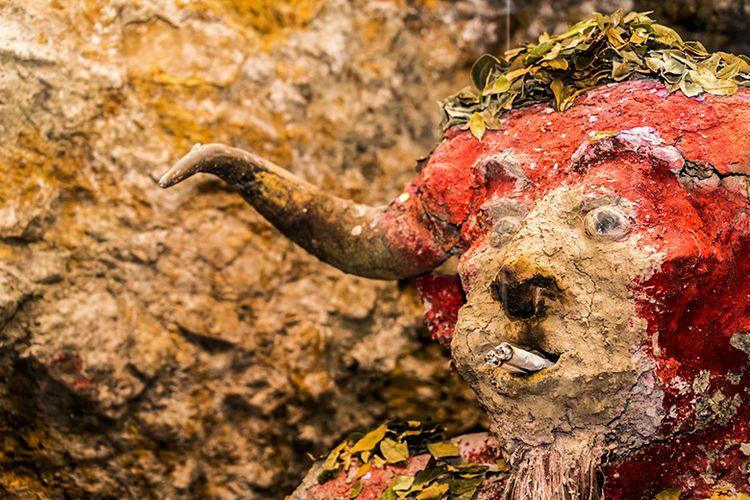El Tio, Iblis yang diyakini menguasai dunia bawah di Pertambangan Negara Bolivia.