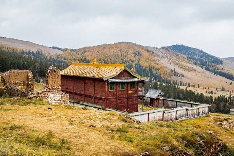 Situs Biara Manzushir, Mongolia.