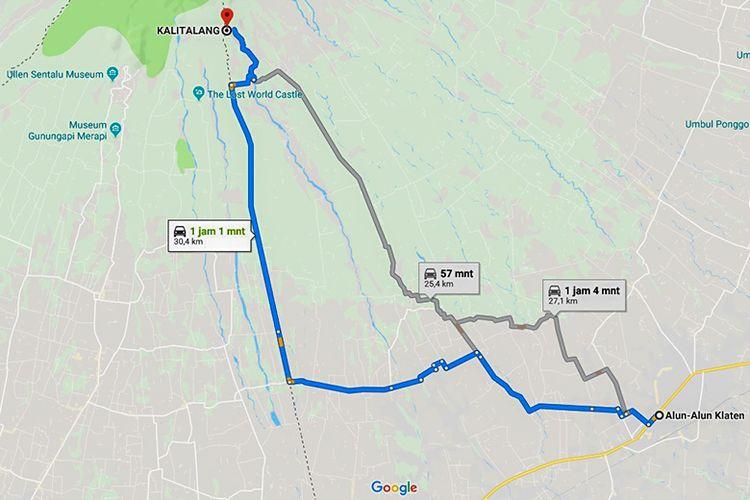 Rute Menuju Kali Talang dari Kota Klaten yang Nyaman untuk Diikuti.