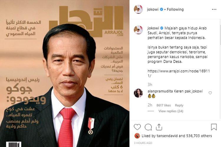 Akun Instagram Presiden Jokowi.