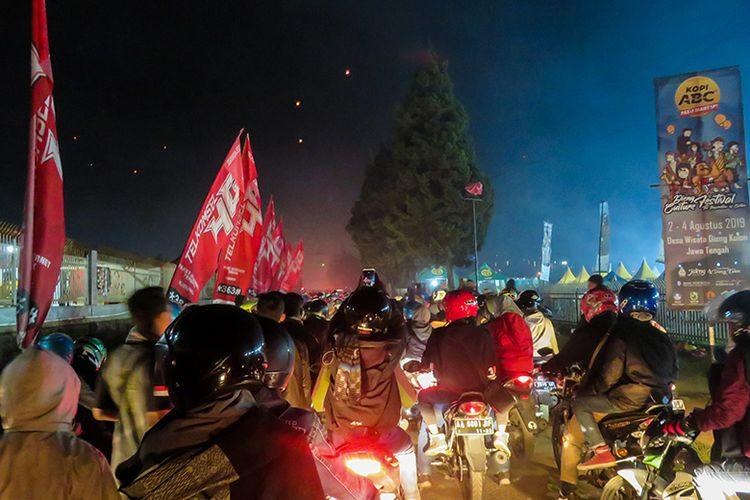 Kemacetan Parah di Dieng usai Acara Senandung Negeri di Atas Awan (03/08/2019).