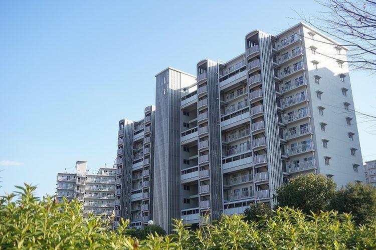 Ilustrasi apartemen di Jepang.