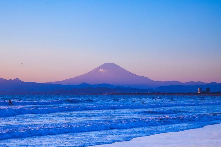 Gunung Fuji di Prefektur Shizuoka.