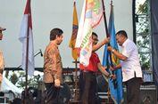 Kirab Pemuda Kemenpora Disambut Tari dan Parade Budaya