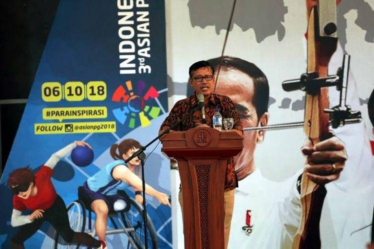 Deputi III Bidang Pembudayaan Olahraga Kemenpora Raden Isnanta