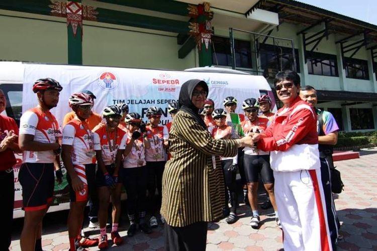 Tim Jelajah Sepeda Nusantara total menempuh jarak sejauh 6752Km dari Entikong hingga kota Yogyakarta selama 78 hari dengan rata-rata efektif mengayuh sepedanya dalam sehari adalah 130Km/hari.