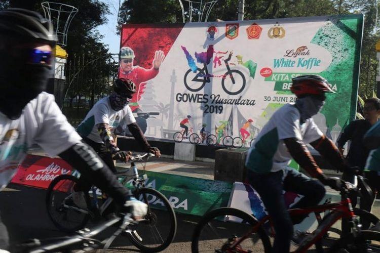 Kegiatan Gowes Nusantara 2019 di Wonosobo, Minggu (30/6/2019), di mana diikuti oleh sedikitnya 6000 pesepeda