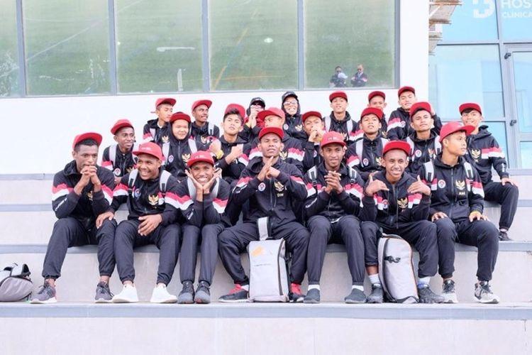 Timnas Pelajar U-15 Kemenpora Indonesia terhenti di babak semifinal  turnamen IBER Cup 2019 yang berlangsung di Estoril, Portugal, Sabtu (08/07/2019).