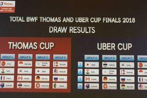 Tim Piala Thomas dan Uber Idonesia Masuk di Grup Berat