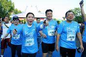 Legenda Bulu tangkis Ikut Kudus Relay Marathon