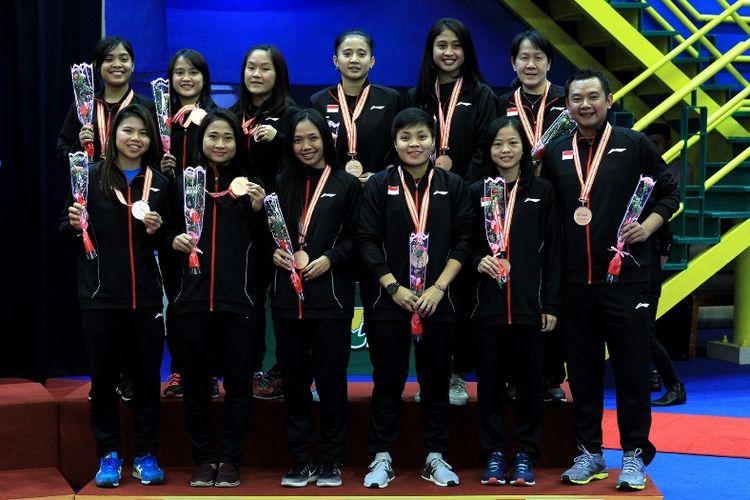 Tim Puteri Indonesia ke Badminton Asia Team Championship 2018 yang berhasil keluar sebagai juara III