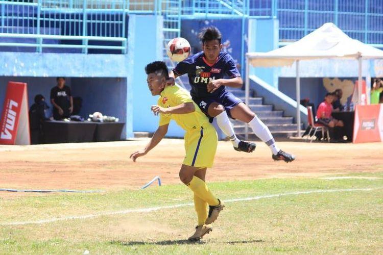 Universitas Muhammadiyah Malang (UMM) mencetak kemenangan perdana dalam laga pertama mereka di LIMA Football: McDonalds East Java Conference (EJC) 2018.