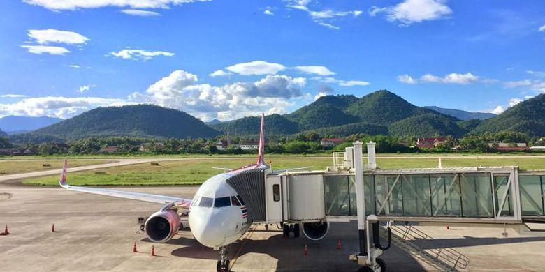 Bandara Luang Prabang di Laos.