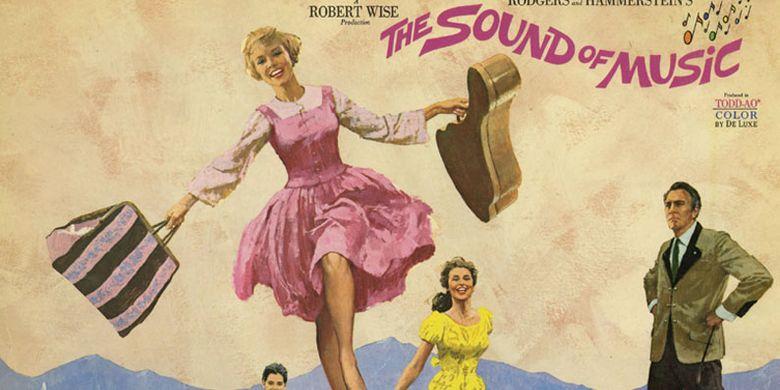 Poster Sound of Music di Salzburg, Austria. Salzburg memang terkenal sebagai salah satu tujuan wisata populer di Austria.