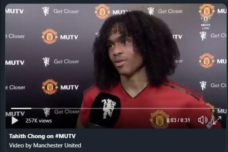 Gelandang muda Manchester United, Tahith Chong.