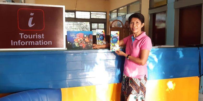 Anjelina Seda, pemilik Guest House Floresa di Maumere, Kabupaten Sikka, Flores, Nusa Tenggara Timur, Senin (27/5/2019).