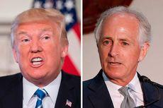 "Perang di Twitter Memanas, Trump Sebut Senator Corker ""Si Pendek"""