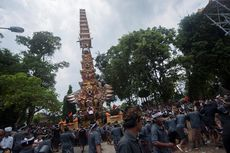 Upacara Ngaben Termegah Digelar di Puri Ubud, Ribuan Orang Tumpah Ruah