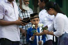Idul Fitri di Myanmar, Warga Muslim Dapat Mawar Putih dari Umat Buddha
