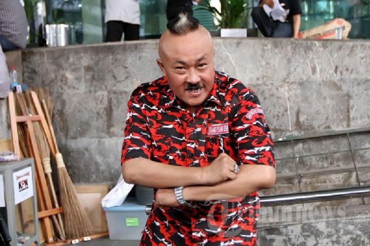 Pelawak Indonesia Margono alias Gogon mendatangi kantor Komisi Pemberantasan Korupsi (KPK) di Jln. HR Rasuna Said Kav C-1 Jakarta Pusat, Rabu (10/10/2012).