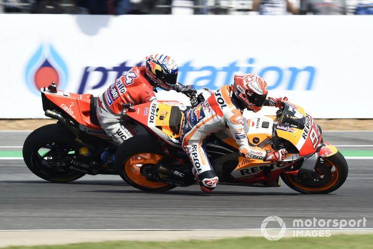 Duel Marc Marquez dan Andrea Dovizioso.