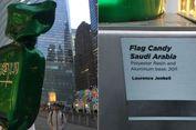 Warga AS Protes Keberadaan Patung Permen Berbendara Saudi di WTC