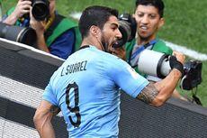 Babak I Uruguay Vs Arab Saudi, Gol Luis Suarez pada Penampilan Ke-100