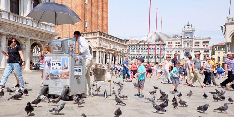 San Marco Square di Venesia, Italia.