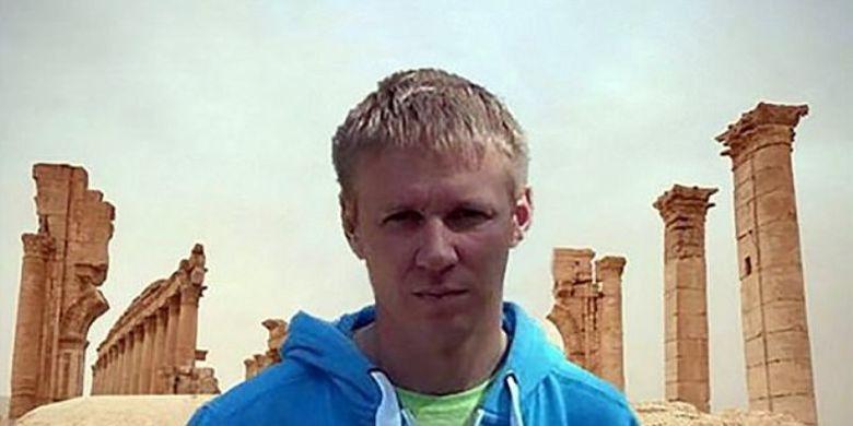 Roman Filipov, pilot Sukhoi Su-25 yang ditembak jatuh oleh kelompok radikal Front Al Nusra Sabtu (3/2/2018).
