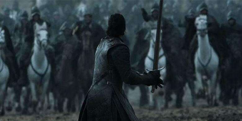 Salah satu adegan dalam Game of Thrones untuk episode Battle of the Bastards (2016)