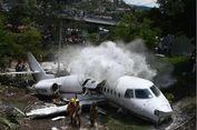 Tergelincir di Bandara Honduras, Badan Pesawat Jet Terbelah