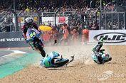Aksi Pebalap Moto3 'Lindas' Motor Lain Seperti Main Trail