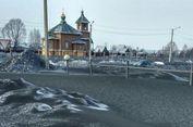 Muncul Fenomena Salju Hitam Menyelimuti Kota di Siberia