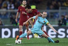 Roma Vs Barcelona Bisa Menjadi Laga Terakhir Iniesta di Liga Champions