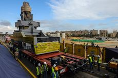 Mesir Pindahkan Patung Raksasa Berusia 3.200 Tahun ke Museum Baru