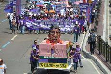 Hari Perempuan Internasional, Duterte Diserbu Unjuk Rasa