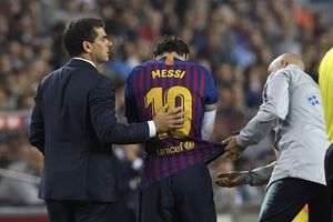 Cedera Retak Lengan Kanan, Lionel Messi Absen 3 Pekan
