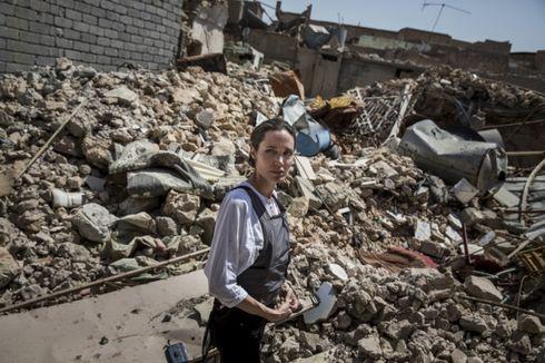 Jadi Utusan Khusus Badan Pengungsi PBB, Angelina Jolie Kunjungi Mosul