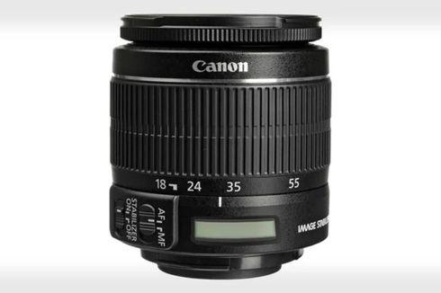 Canon Rancang Lensa Kit 18-55 mm Ber-LCD