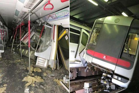 Uji Coba Sinyal, Dua Kereta Bawah Tanah di Hong Kong Malah Tabrakan