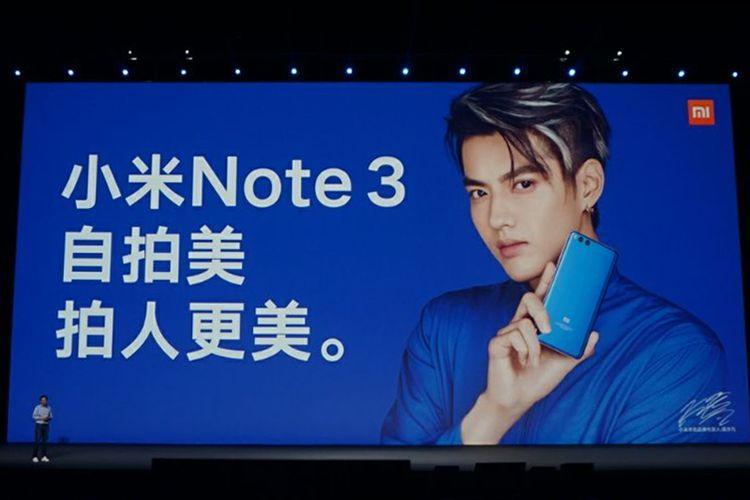Xiaomi Mi Note 3 resmi diluncurkan pada Senin (11/9/2017) di Beijing, China.
