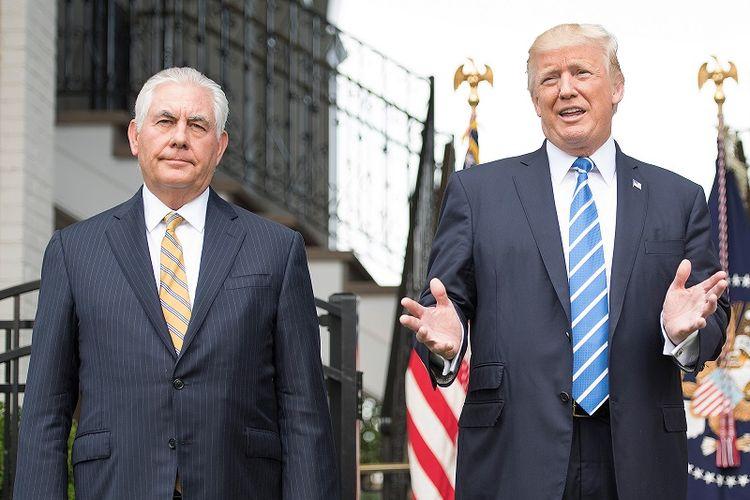Menteri Luar Negeri Amerika Serikat Rex Tillerson dan Presiden Amerika Serikat Donald Trump