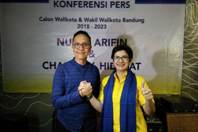 Politisi Partai Golkar Nurul Arifin resmi berpasangan dengan politisi Partai Demokrat Chairul Y Hidayat untuk Pilkada Kota Bandung.
