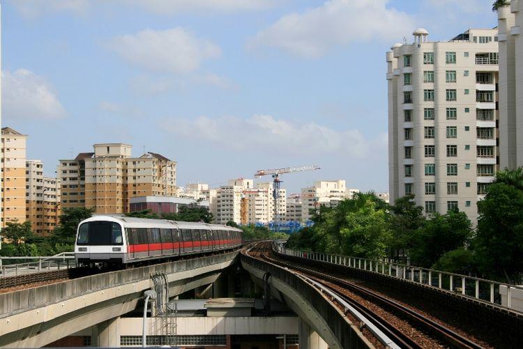 Sistem MRT di Singapura.